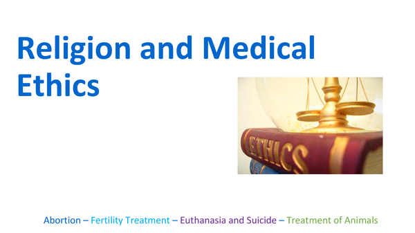 Preview of Religion and medical ethics