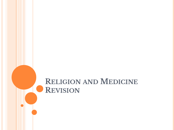Preview of Religion and medicine