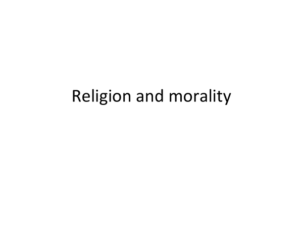 Preview of Religion and morality