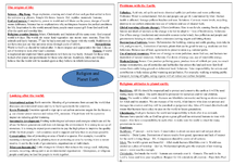 Preview of Religion and planet earth GCSE AQA B Religion and life issues revision notes.