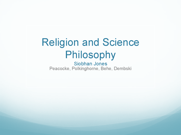 Preview of Religion and Science Philosophy AS (OCR)