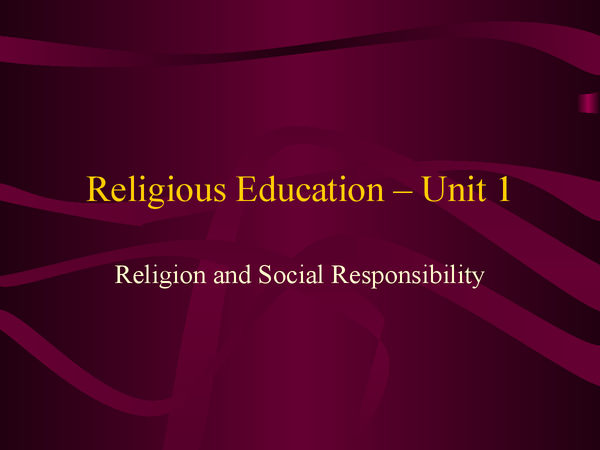 Preview of Religion and Social Responsibility