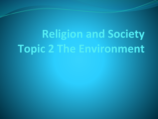 Preview of Religion and Society Topic 2