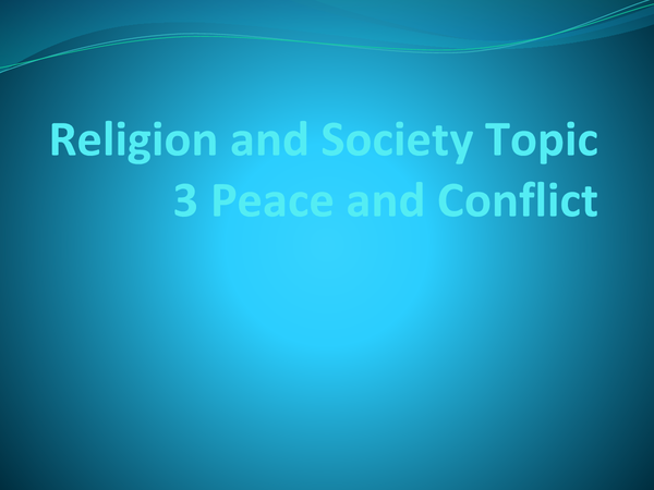 Preview of Religion and Society Topic 3
