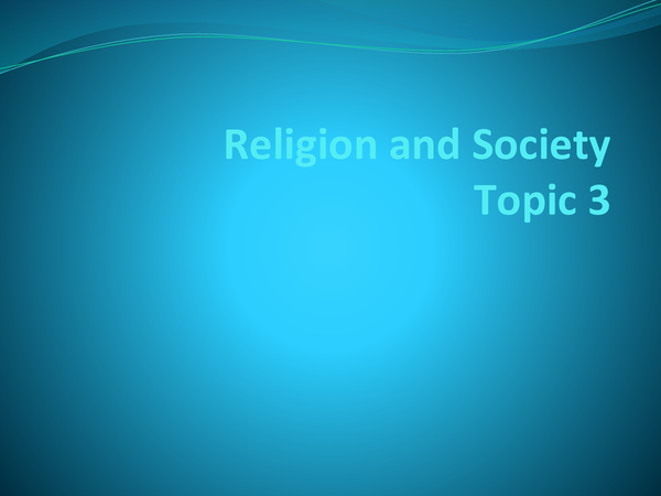 Preview of Religion and Society Topic 3 keywords