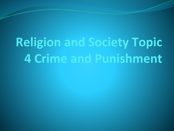 Preview of Religion and Society Topic 4
