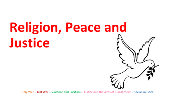 Preview of Religion, peace and justice