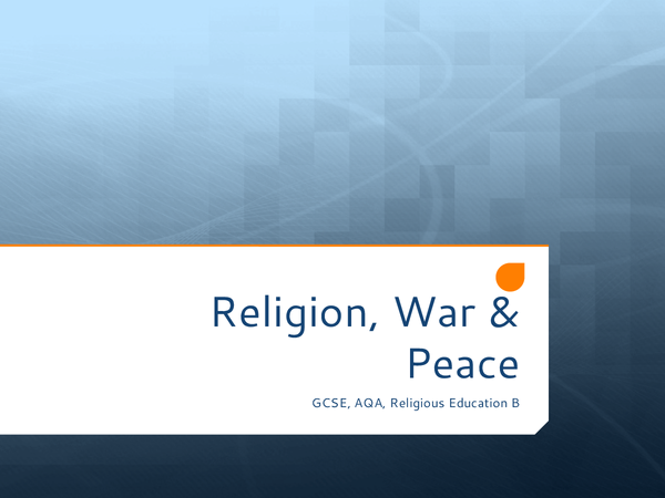 Preview of Religion, War and Peace FULL Revision