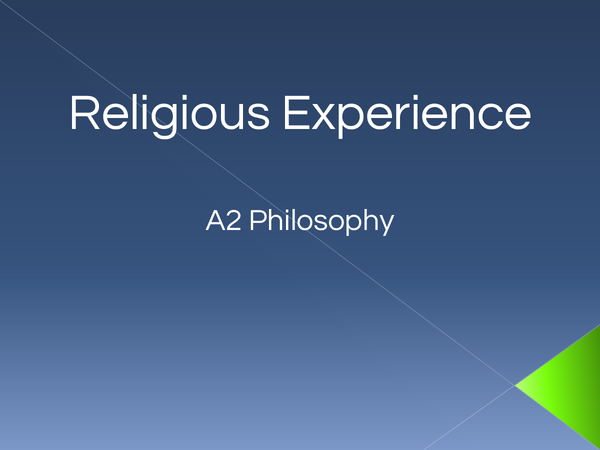 Preview of Religious Experience Powerpoint