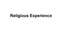 Preview of Religious Experience Scholars