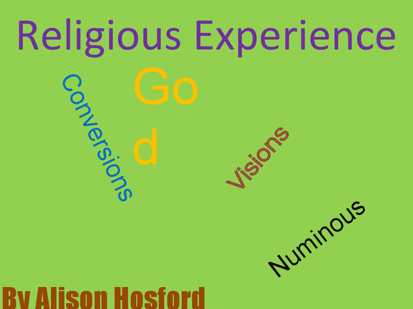 Preview of Religious Experience (St Bernadette, Visions, Numinous and Conversions)