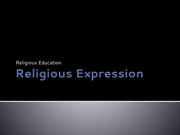 Preview of Religious Expression - WJEC