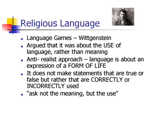Preview of Religious Language