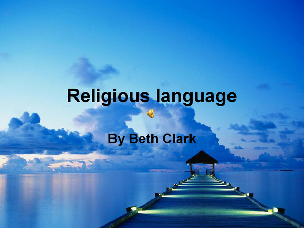 Preview of Religious Language A2
