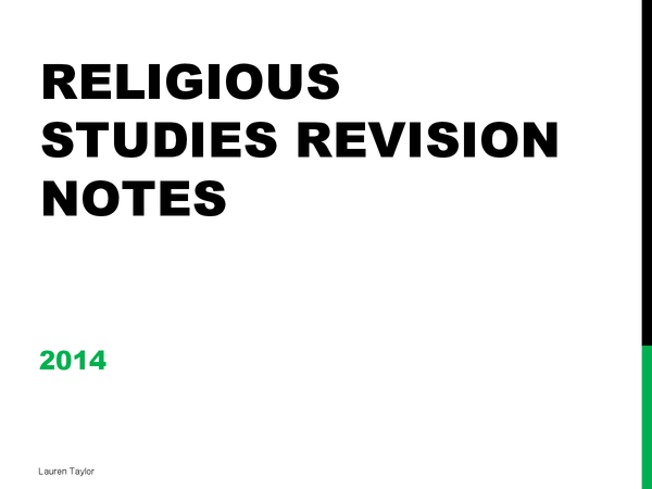 Preview of Religious Studies: Christianity, All Topics