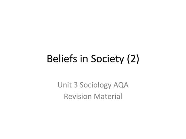 Preview of Religon & Social Groups (2)