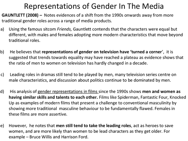 Preview of Representations of Gender In The Media