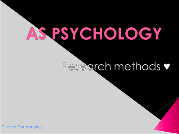 Preview of Research methods!