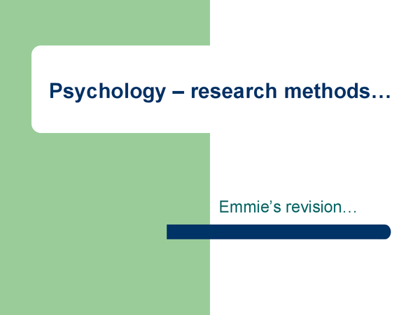 Preview of Research methods powerpoint x