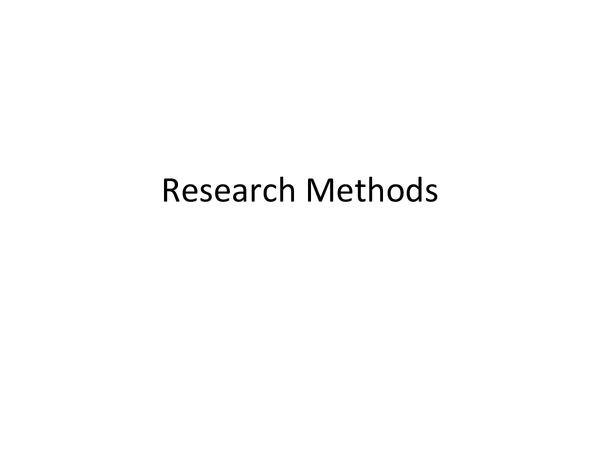 Preview of research methods, psychology A2