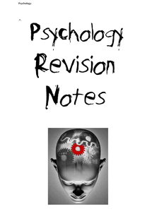 Preview of Research Methods Revision Booklet
