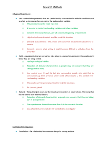 Preview of reserch methods(PET) model
