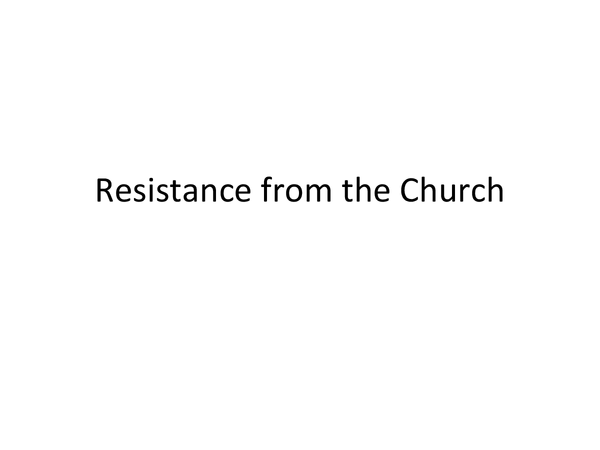 Preview of Resistance from the Church in Nazi Germany
