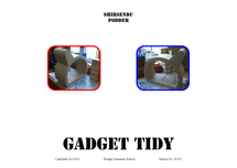 Preview of Resistant Material Technology Gadget Tidy Coursework