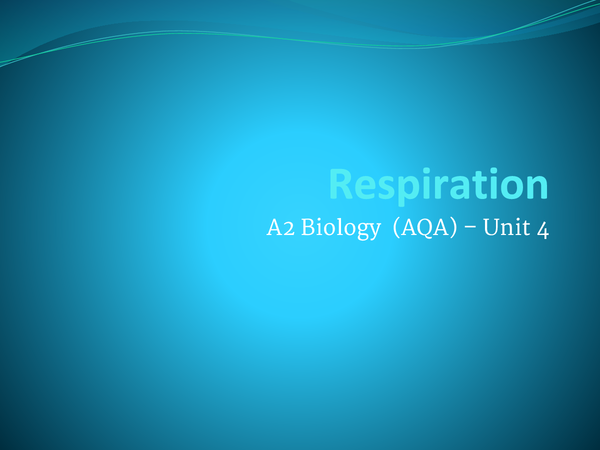 Preview of Respiration Summary