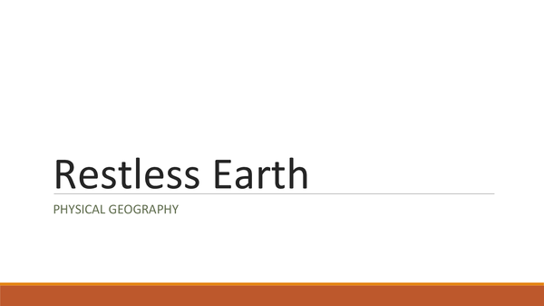 Preview of Restless Earth