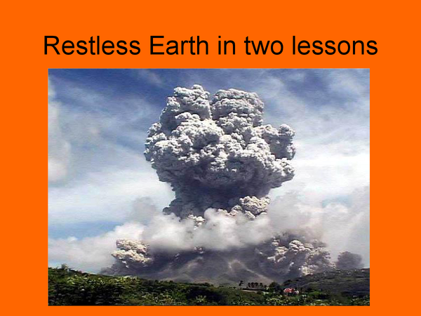 Preview of Restless Earth Powerpoint