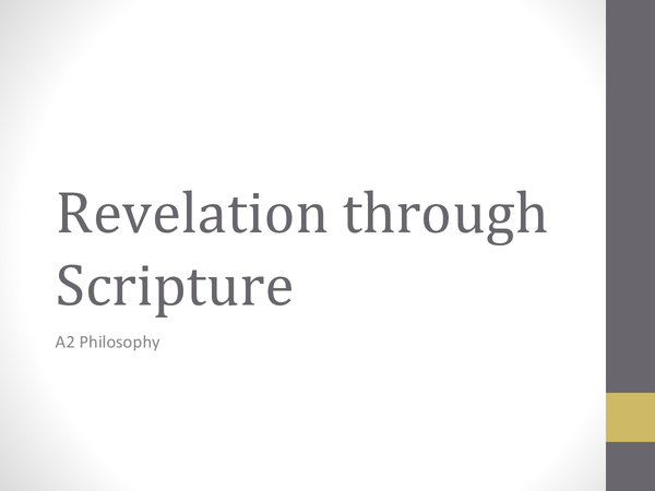Preview of Revelation Through Scripture