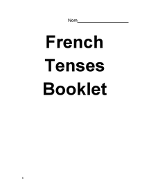 Preview of Revision booklet for tenses