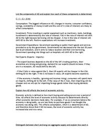 Preview of Economics Revision Checklist Part 2
