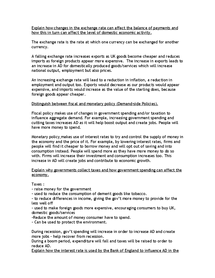 Preview of Economics Revision Checklist Part 3