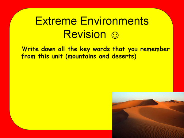 Preview of Revision for Extreme Environment