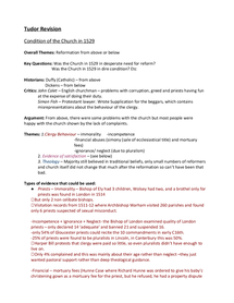 Preview of Revision Notes for AQA 2B - Church in England