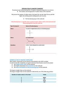 Preview of Revision notes for AQA AS Chemistry Units 5 and 6- Organic Chemistry and Alkanes