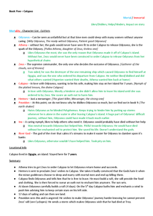 Preview of Classical Civilisation: The Odyssey Revision Notes