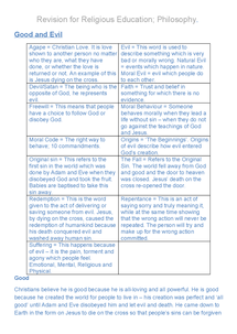 Preview of Revision notes for Religious Studies GCSE: OCR, Philosophy 2.