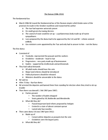 Preview of revision notes for russia