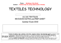 Preview of Revision notes including smart materials