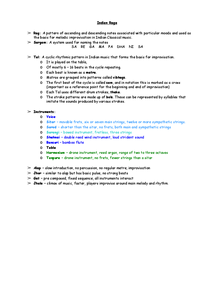 Preview of Revision notes on indian raga