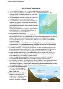 Preview of Revision Notes on Restless Earth and Ice on the Land
