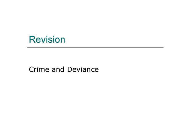 Preview of Revision on crime trends