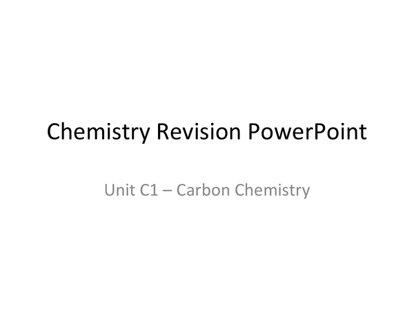 Preview of revision powerpoint C1 GCSE
