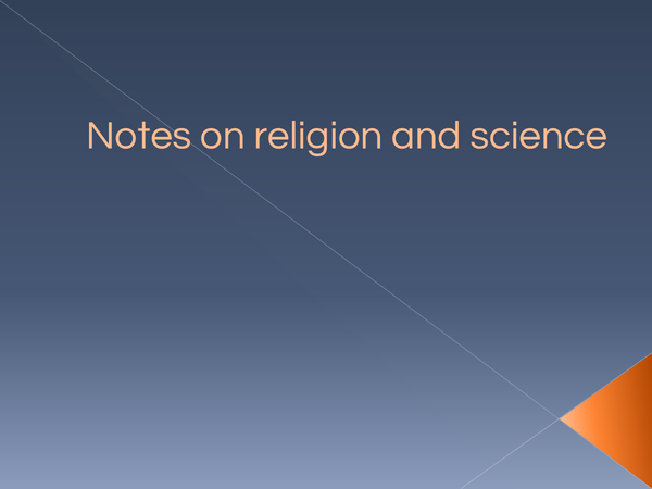 Preview of Revision powerpoint for Religion and science