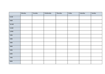 Preview of revision timetable