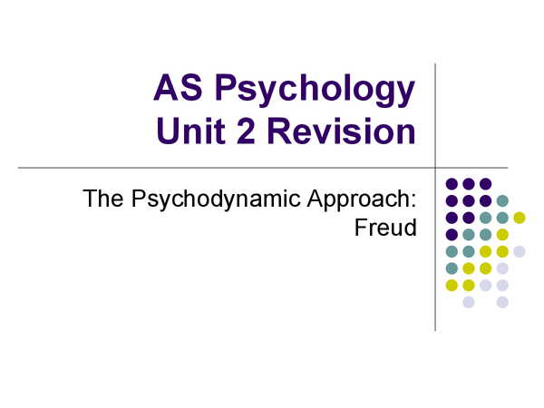 Preview of Revision Unit 2 Psychdynamic