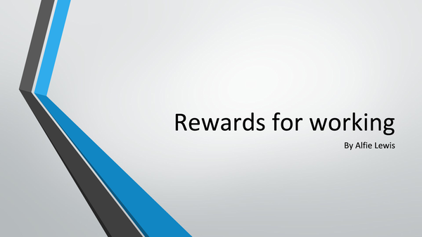 Preview of Rewards for working